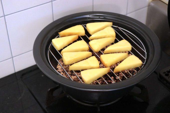 チーズの燻製できあがり