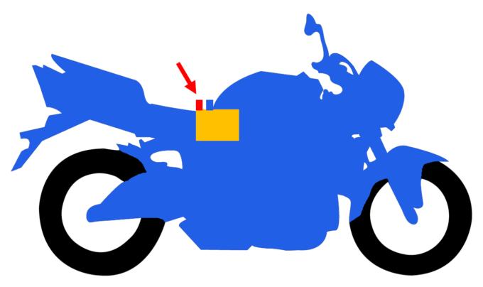 バイクのアースのイメージ